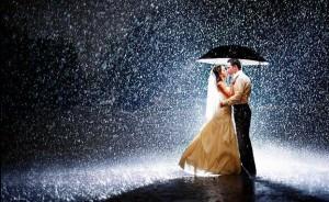 foto matrimonio sotto la pioggia